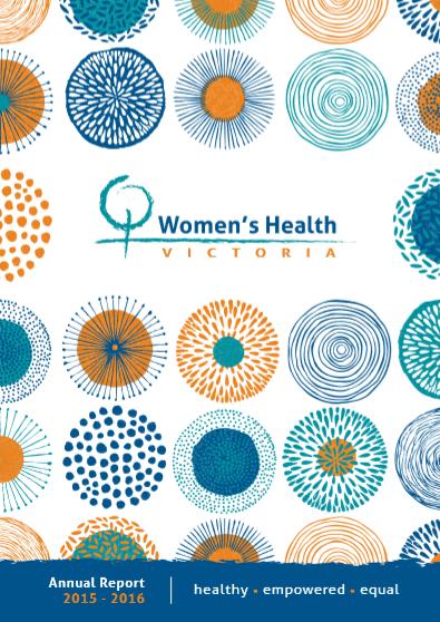 Women's Health Victoria annual report 2015-2016