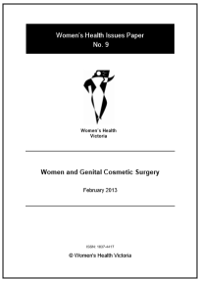 Women and genital cosmetic surgery Issues Paper
