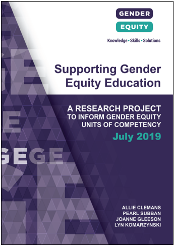 Supporting gender equity education: a research project to inform gender equity units of competency cover image