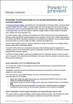 Australian Government must act on sexual harassment report recommendations media release image