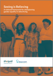 Seeing is believing: a national framework for championing gender equality in advertising: cover image