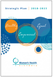 Women's Health Victoria strategic plan 2018 - 2023