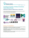 Australian Association of National Advertisers Code of ethics review submission cover image